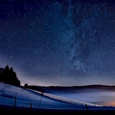 Milky Way over La Brevine - Switzerland