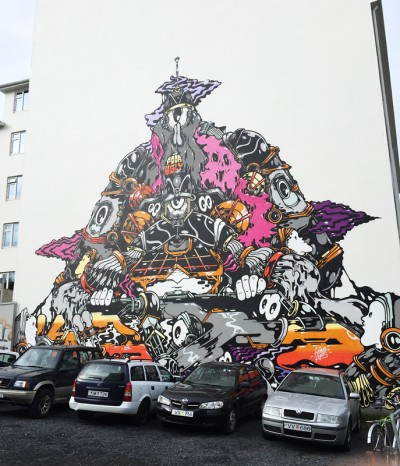 Reykjavik ( septembre 2015) by Kurir This work has now disappeared behind new walls